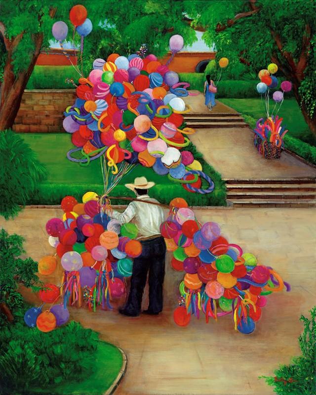 Balloons, Balloon seller, park, mexico