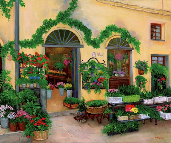 flower shop, europe, italy