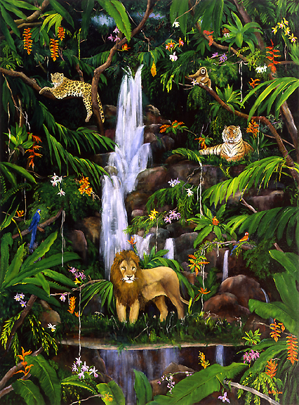 Tropical Rainforest Artwork By Betty Lou Barry