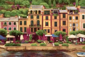 Portifino Italy, waterfront scene, harbor scene