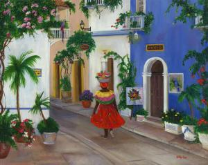 Cartagena, Frui seller, Columbia, South American street scene, South America