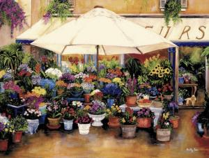 french flower shop, poodle