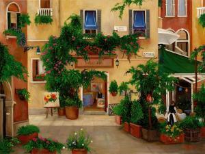 venice, cafe, art gallery, Italy