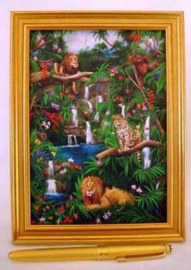 rain forest, leopard, lion, jungle