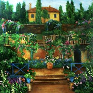villa, garden in europe, provence