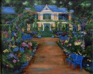 france, garden, garden, and house monet. giverny