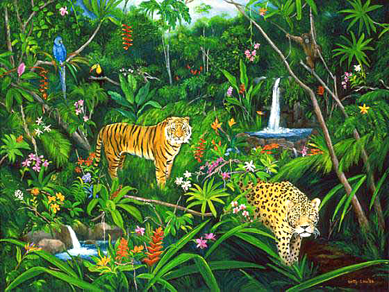 Jungle Artwork By Betty Lou Barry